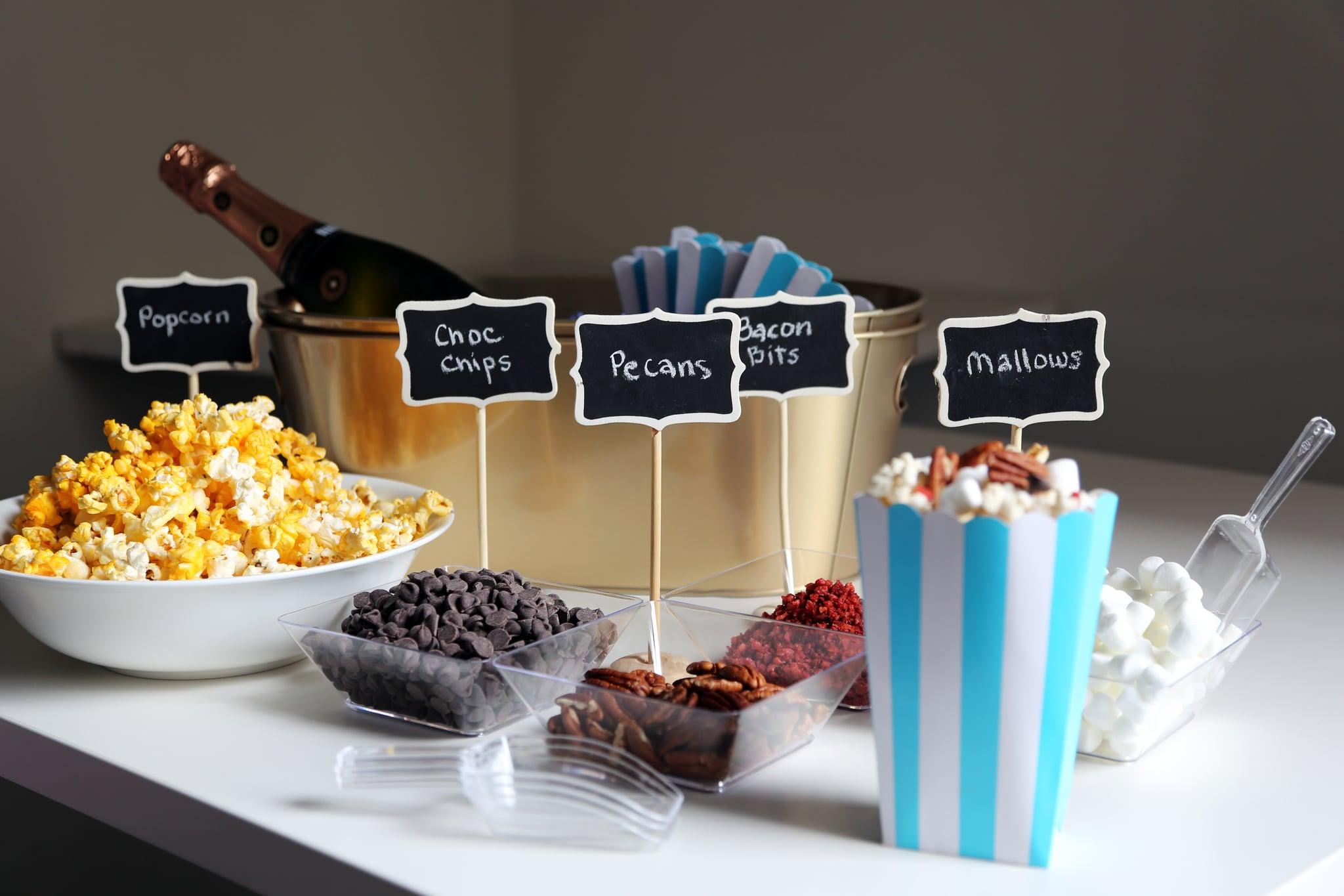 How to Set Up a DIY Popcorn Bar | POPSUGAR Food