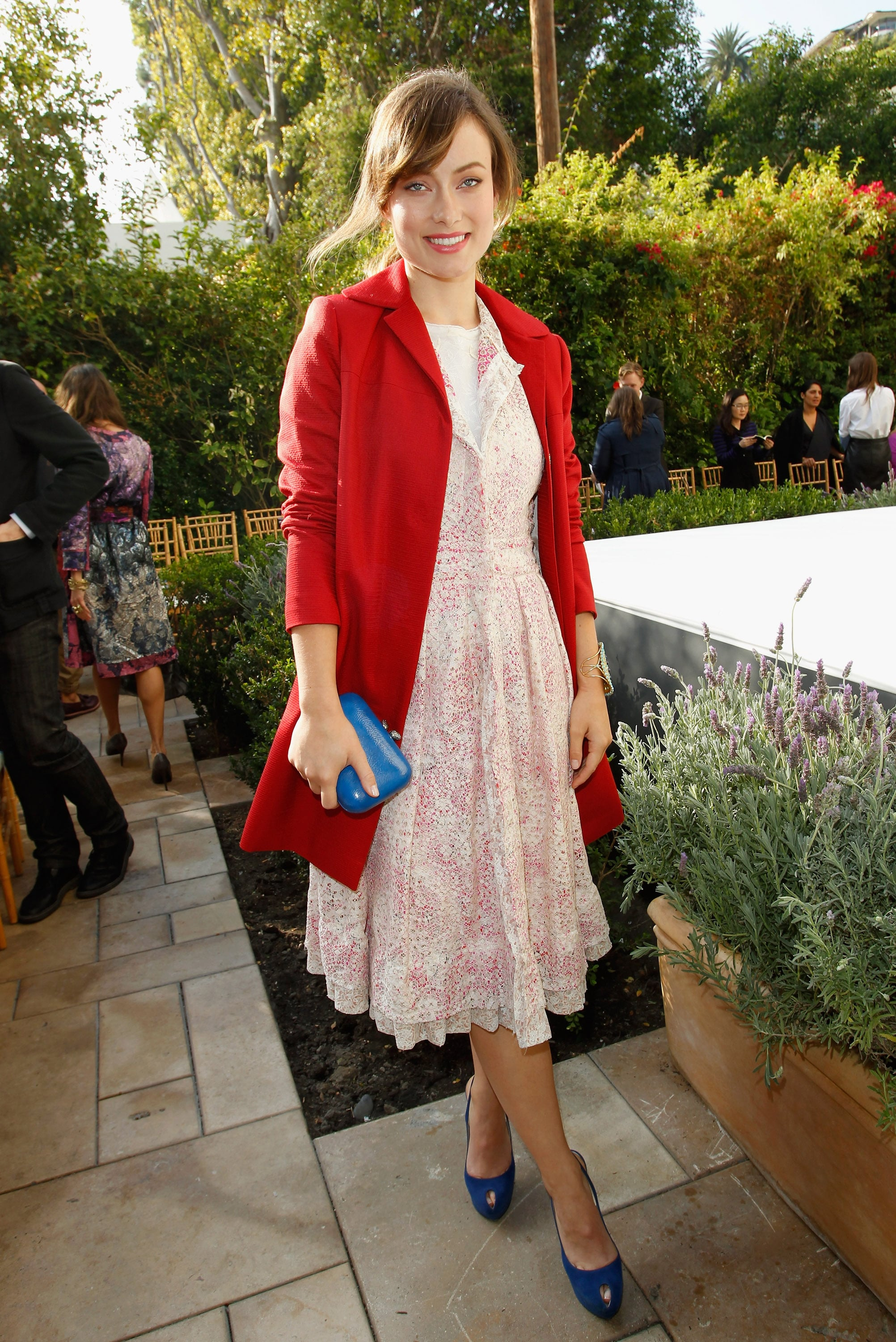 Olivia Wilde at a Vogue party in LA.