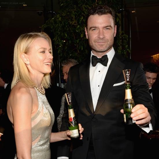 Naomi Watts and Liev Schreiber at the Golden Globes 2014