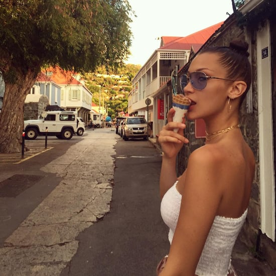 Bella Hadid White Tube Top Instagram July 2016