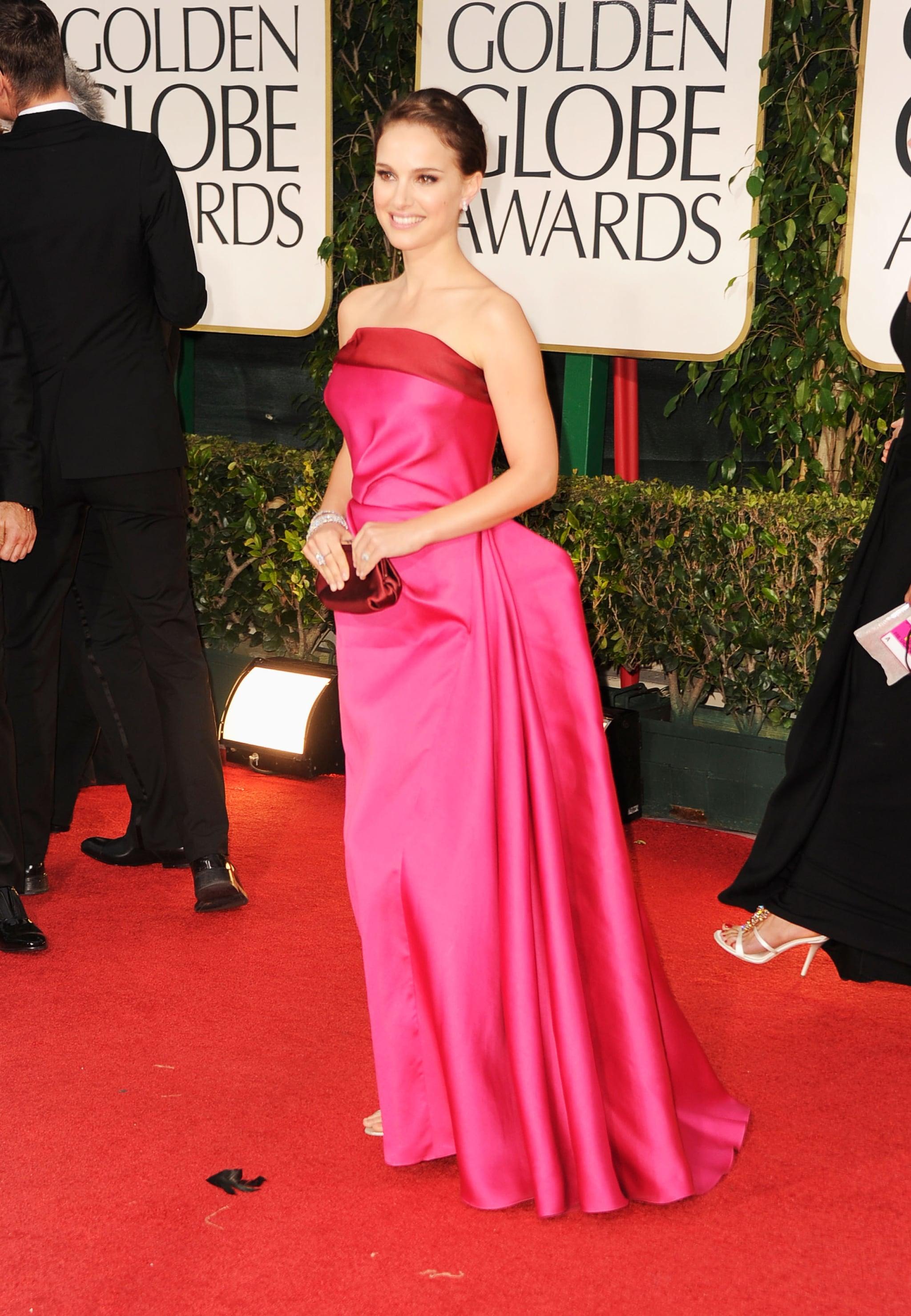 Natalie Portman at the Golden Globes.