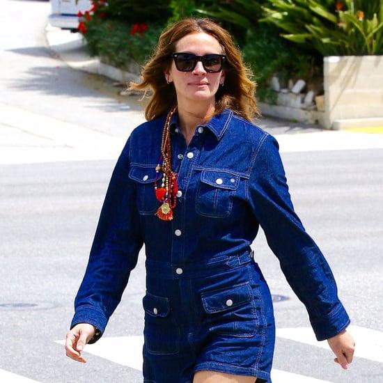Julia Roberts Wearing a Denim Romper April 2016