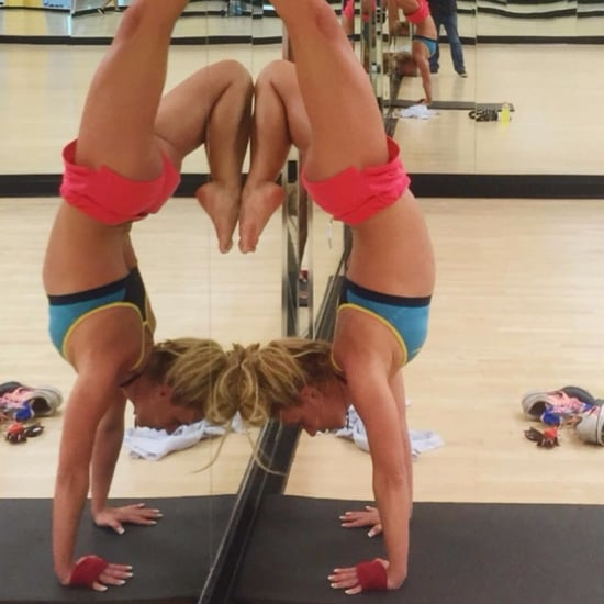 Britney Spears Doing a Handstand