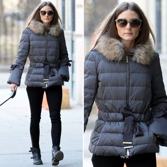 Olivia Palermo Wearing Fur Puffer Jacket Popsugar Fashion