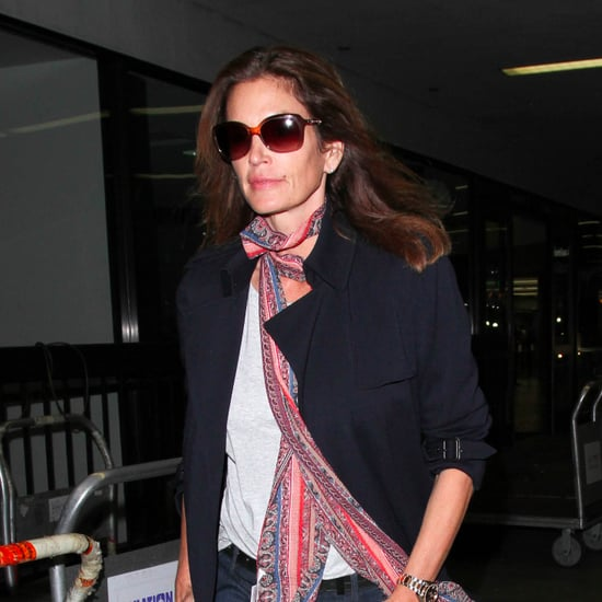 Cindy Crawford Wearing a Scarf April 2016
