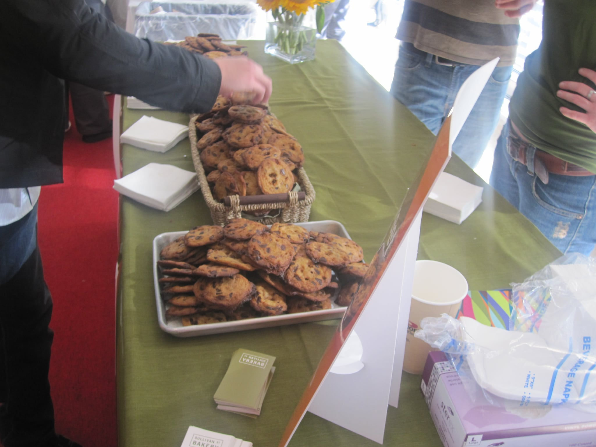 Naturally, there were chocolate chip cookies.