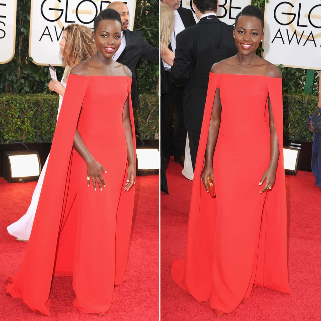 Best Globes Of The Golden Globes: Lupita Nyong'o Dress On Golden Globes 2014 Red Carpet