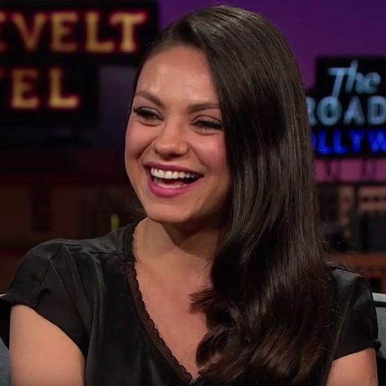 Mila Kunis Talks About Ashton Kutcher on James Corden Video