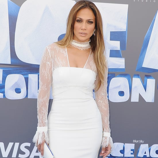 Jennifer Lopez's White Dress at the Ice Age Premiere 2016