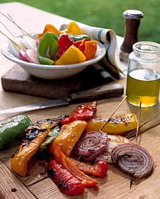 Grilled Mixed Peppers and Onions