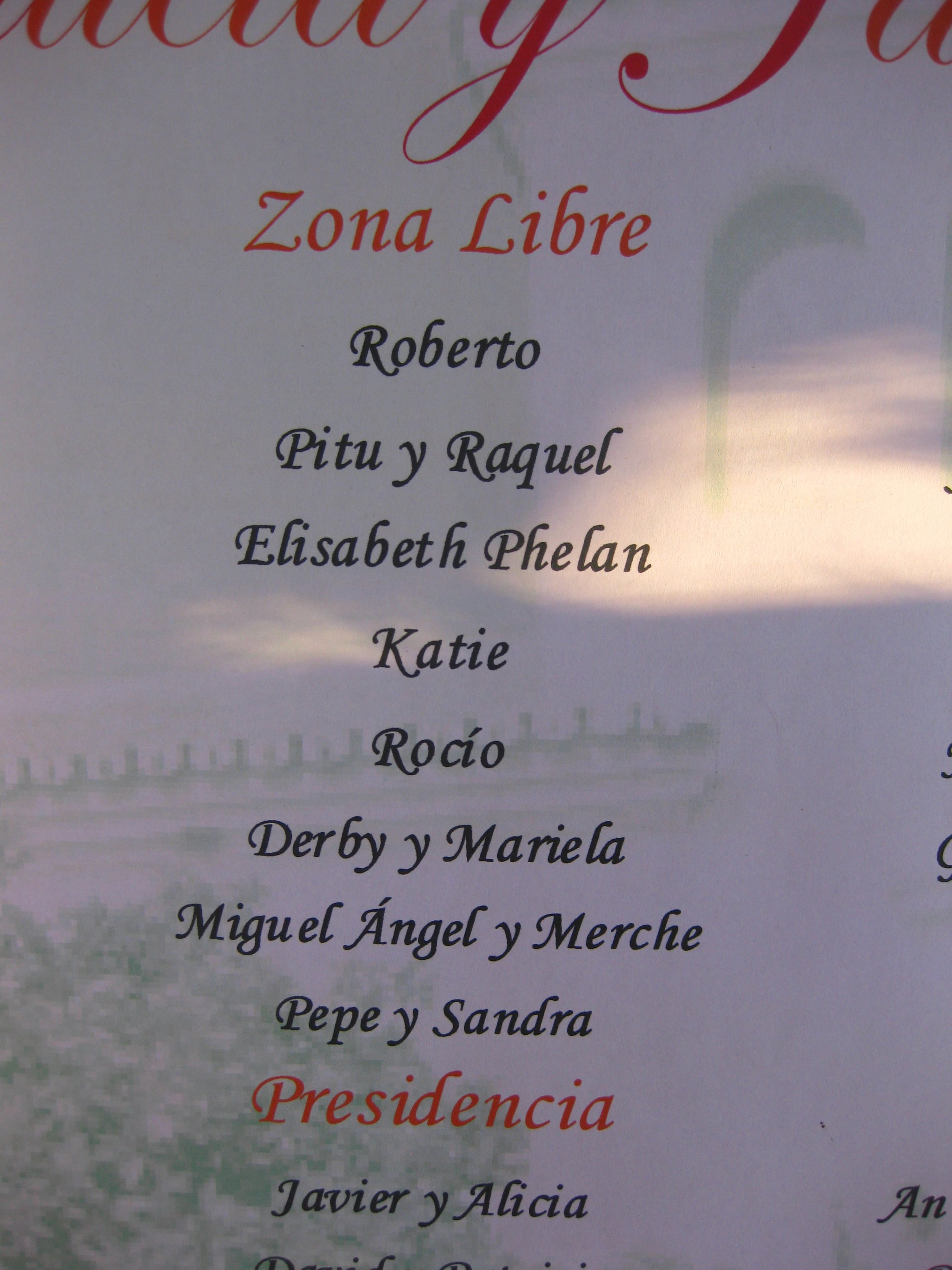 I'm so well known in Cordoba that no last name is needed!