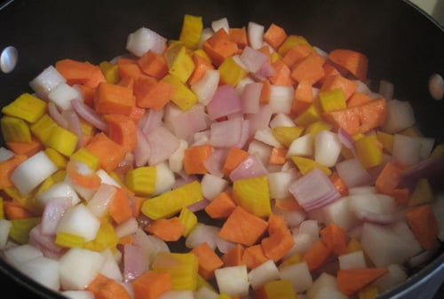 Rigatoni with Skillet-Roasted Root Vegetables