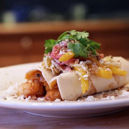 Tex-Mex Barbecue Shrimp Tacos