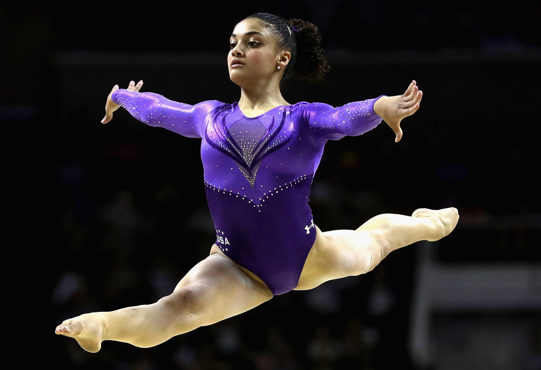 Laurie hernandez facts popsugar latina for 1 2 3 4 all the ladies on the floor