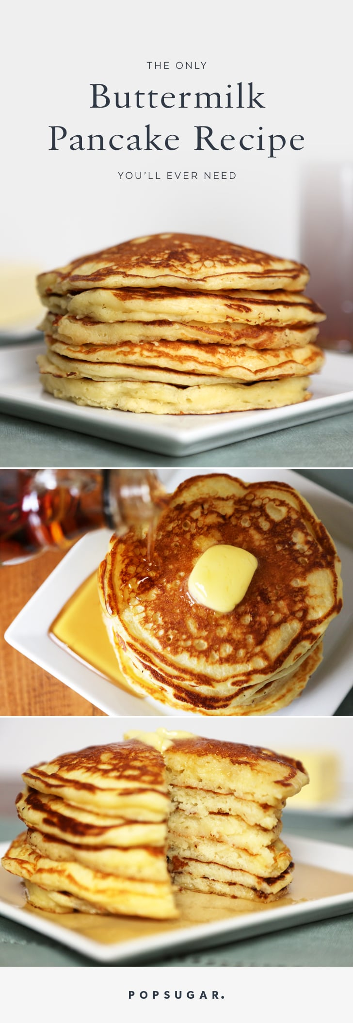 Buttermilk pancake recipe popsugar food share this link copy while many resort to pancake mix when making ccuart Choice Image