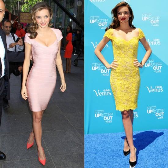 Miranda Kerr Cap Sleeve Dresses Pictures Popsugar Fashion