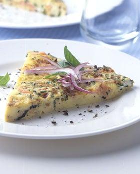 Smoked-Salmon and Cream Cheese Frittata
