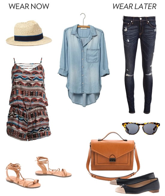 How To Wear A Chambray Shirt For Fall Popsugar Fashion