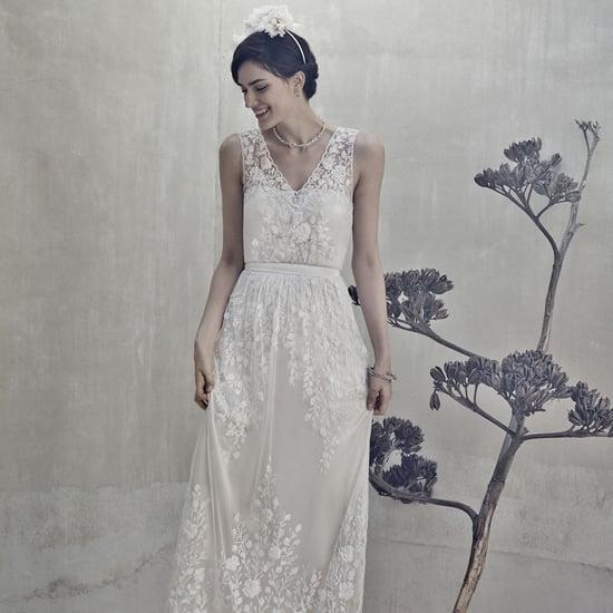Schlichte Brautkleider mit Spitze