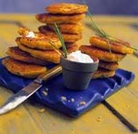 Corn Cakes With Fresh Corn and Chives