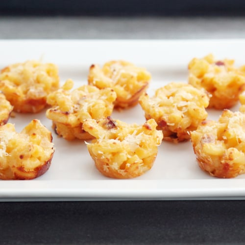 Three-Cheese Mini Macaroni and Cheese Bites