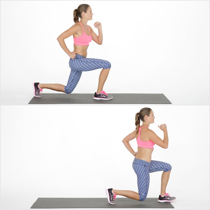 How To Do A Walking Lunge Popsugar Fitness