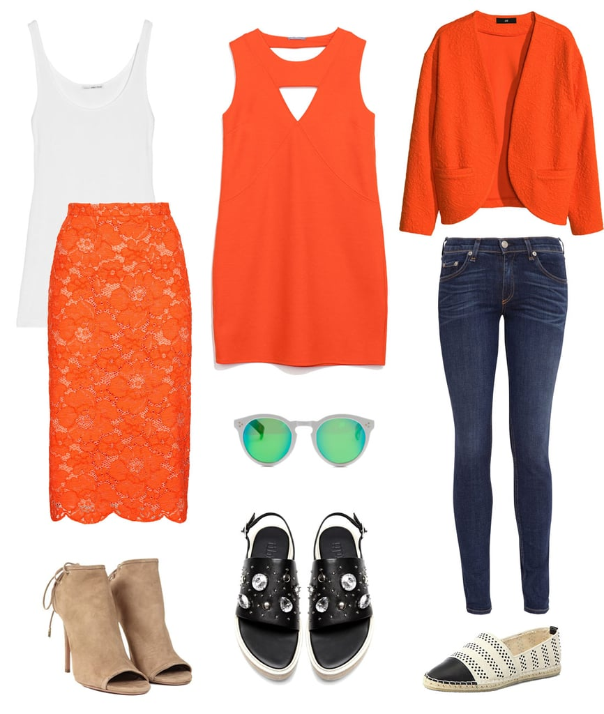 how to wear orange  popsugar fashion