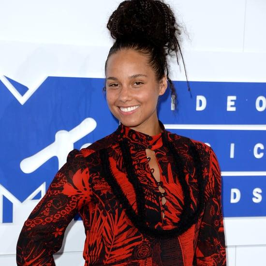 Alicia Keys's No-Makeup Look at MTV VMAs 2016