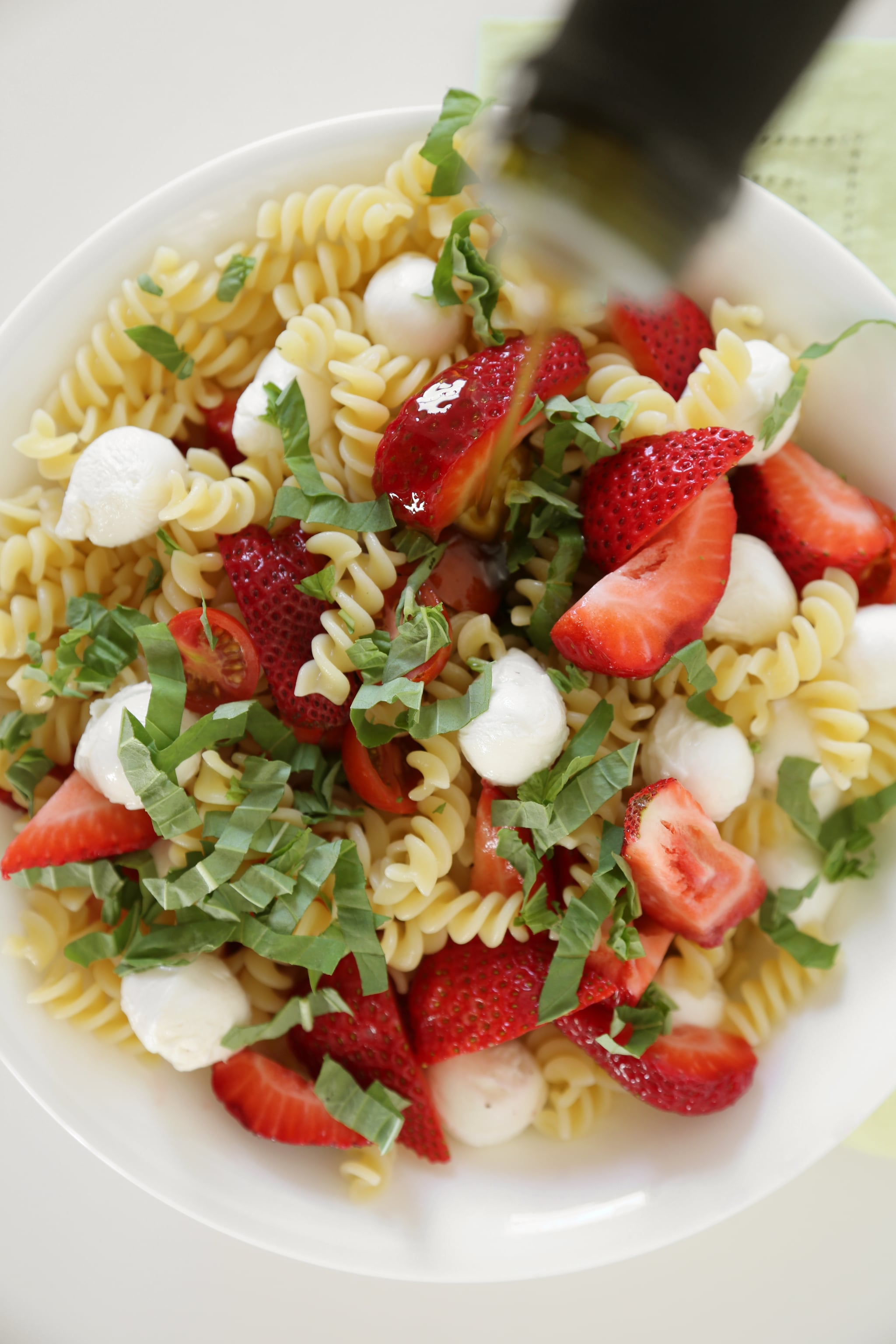Feed a Crowd With Strawberry Caprese Pasta Salad
