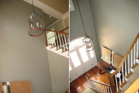 Foyer Chandelier Jr : Su casa before and after foyer popsugar home