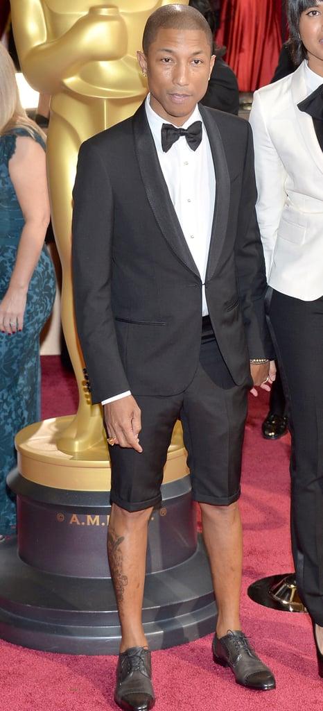 Pharrell Williams Shorts at Oscars 2014 | POPSUGAR Fashion