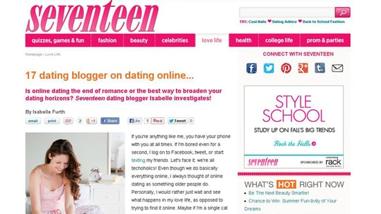 Article on online dating