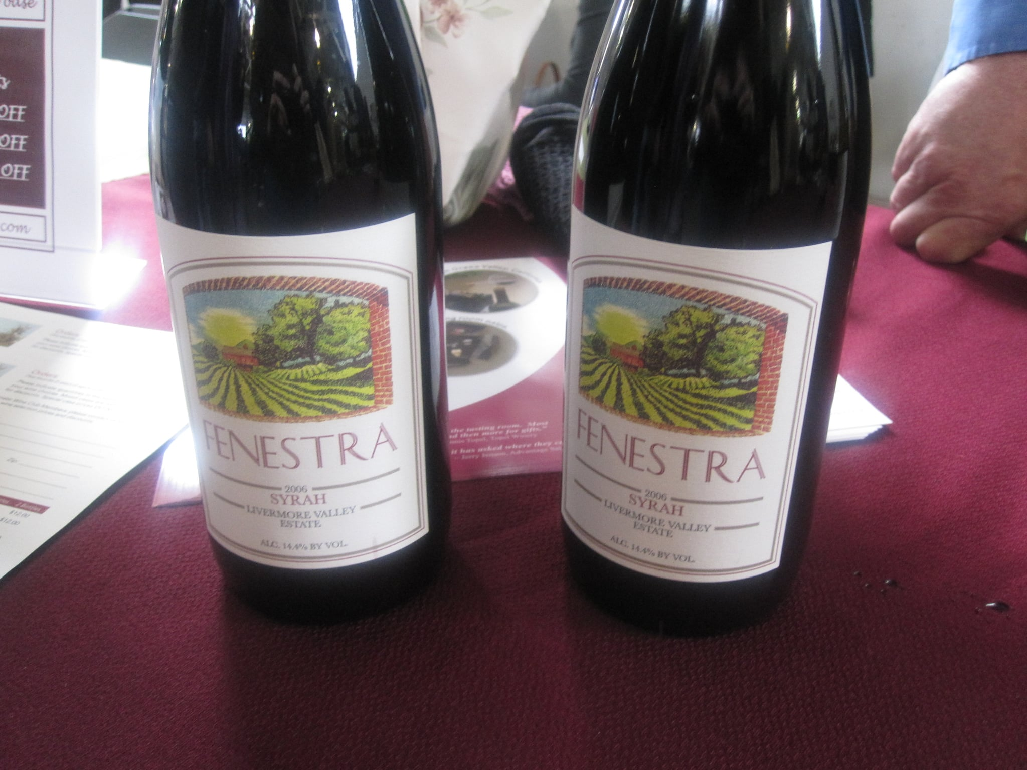 This was a fun taste test. We got to sample two bottles of the same wine...