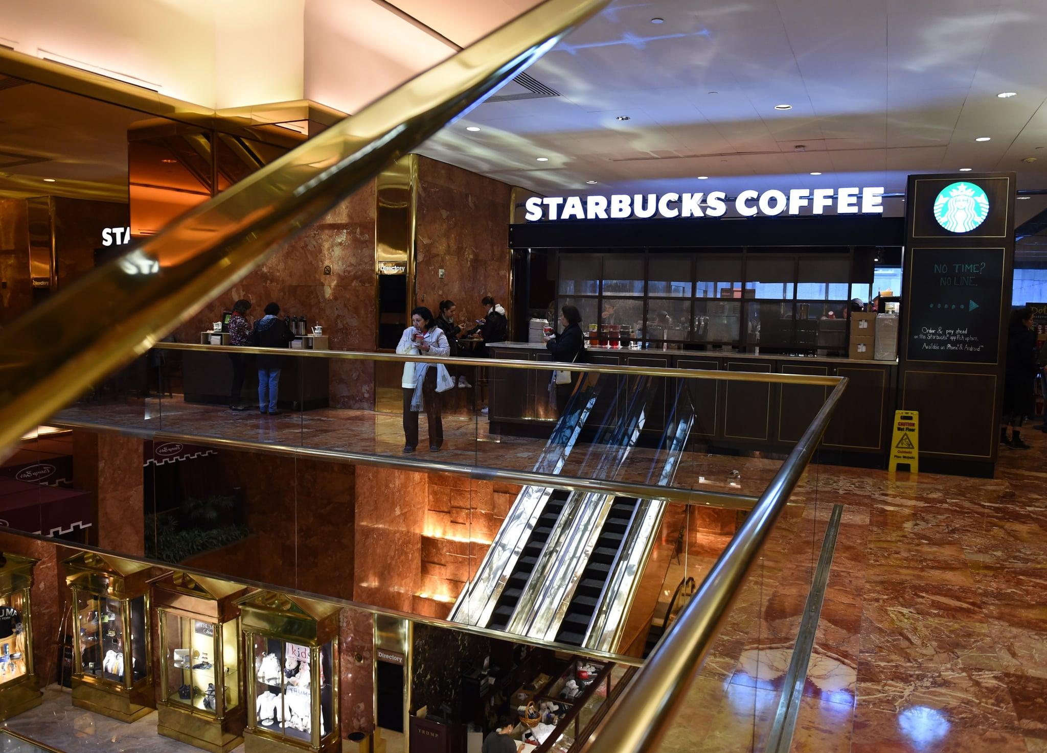 Starbucks trump tower boycott popsugar smart living for Trump plaza new york city