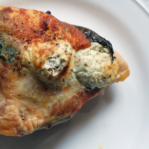 Chicken Breast With Goat Cheese and Basil