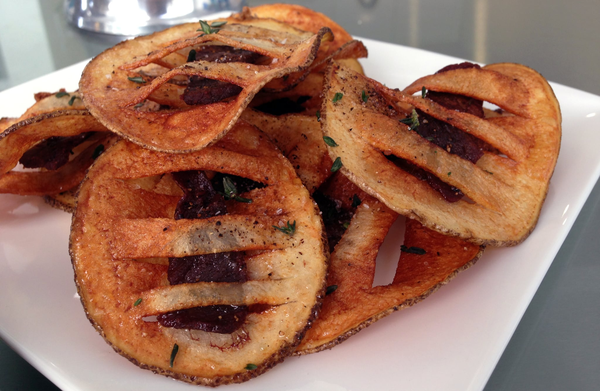 Steak Stuffed Potato Chips