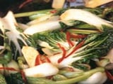 Stir-Fried Chinese Greens with Ginger, Oyster and Soy Sauce