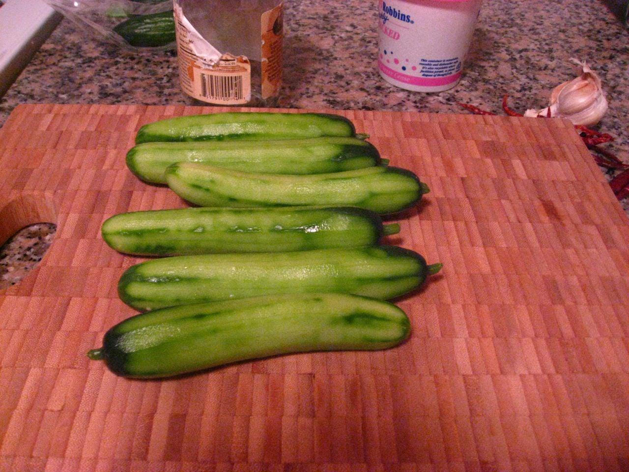 Peeled Cucumbers