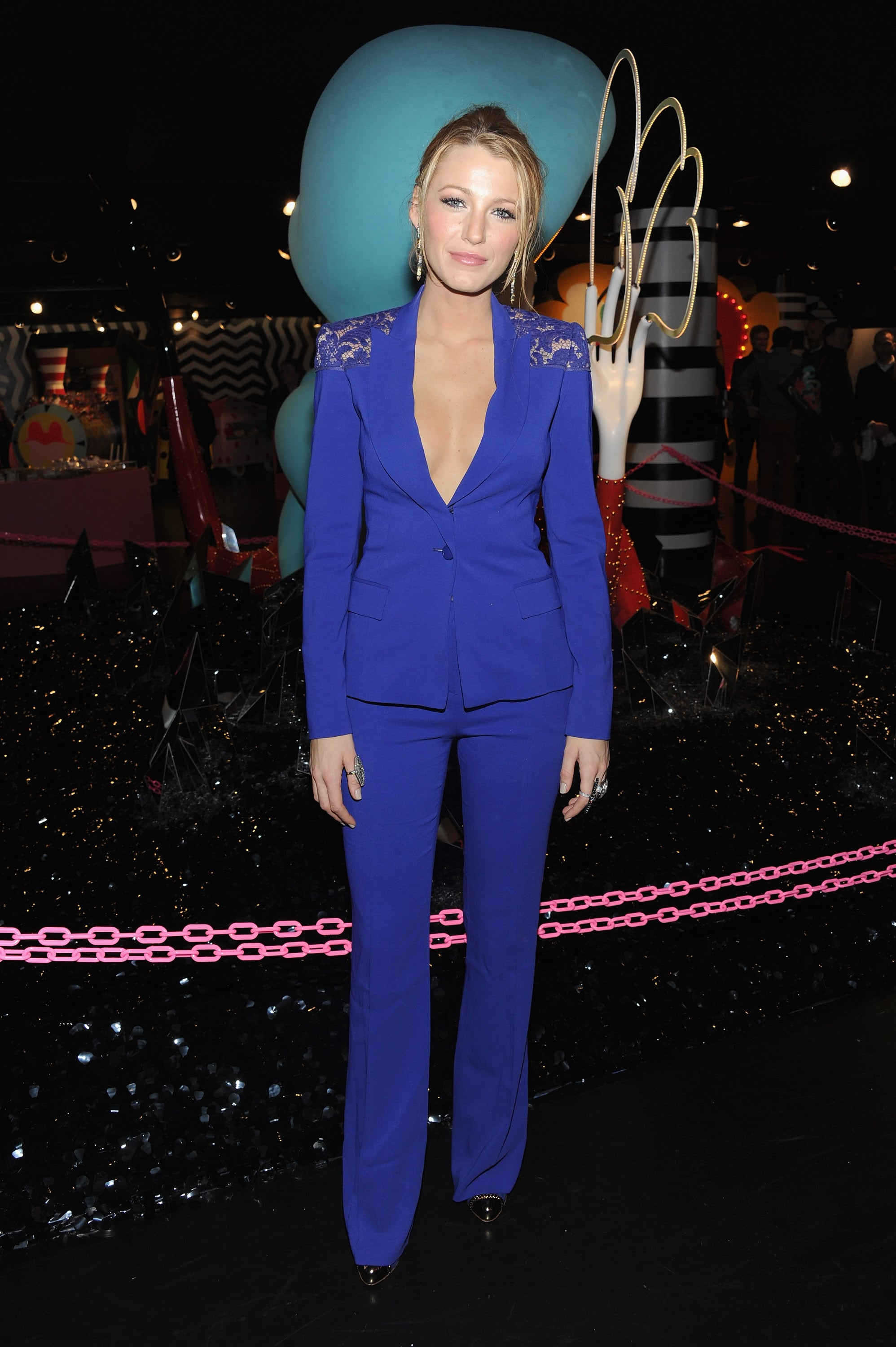 Blake Lively attended the opening of Lady Gaga's Workshop at Barneys.