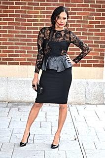 Zara Dress, DSW Clutch, Christian Louboutin Shoes