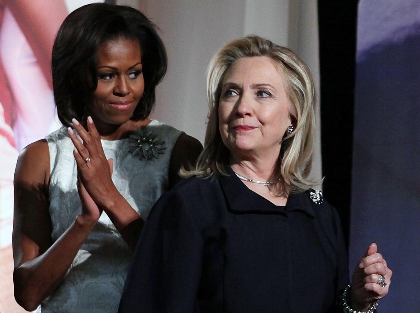 Hillary clinton michelle obama