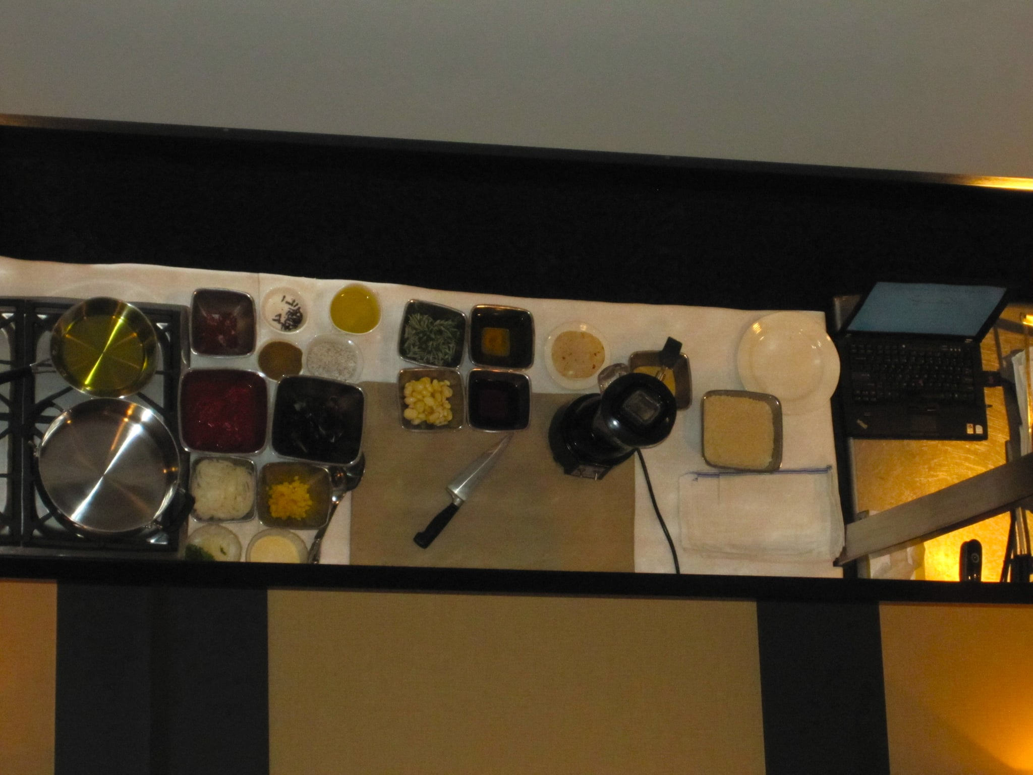 Mise en place is very important to a successful demonstration.