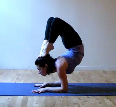 Strike A Yoga Pose Forearm Stand Scorpion Popsugar Fitness