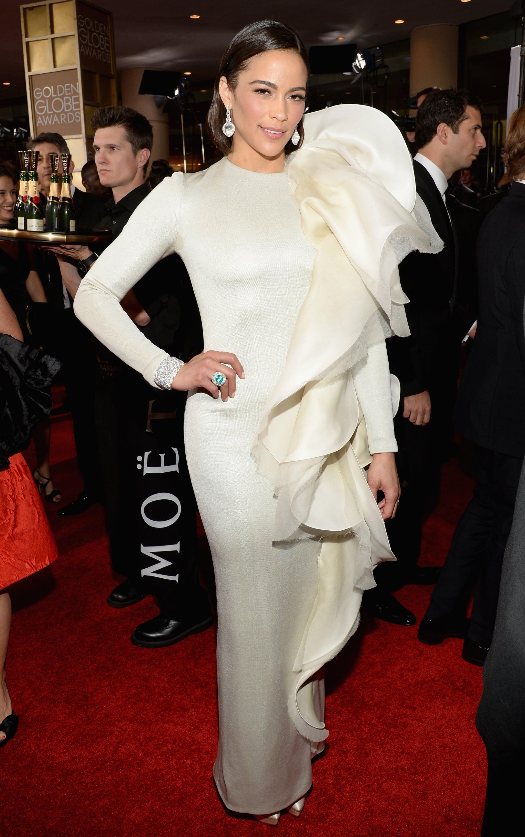 Paula Patton Dress On Golden Globes 2014 Red Carpet