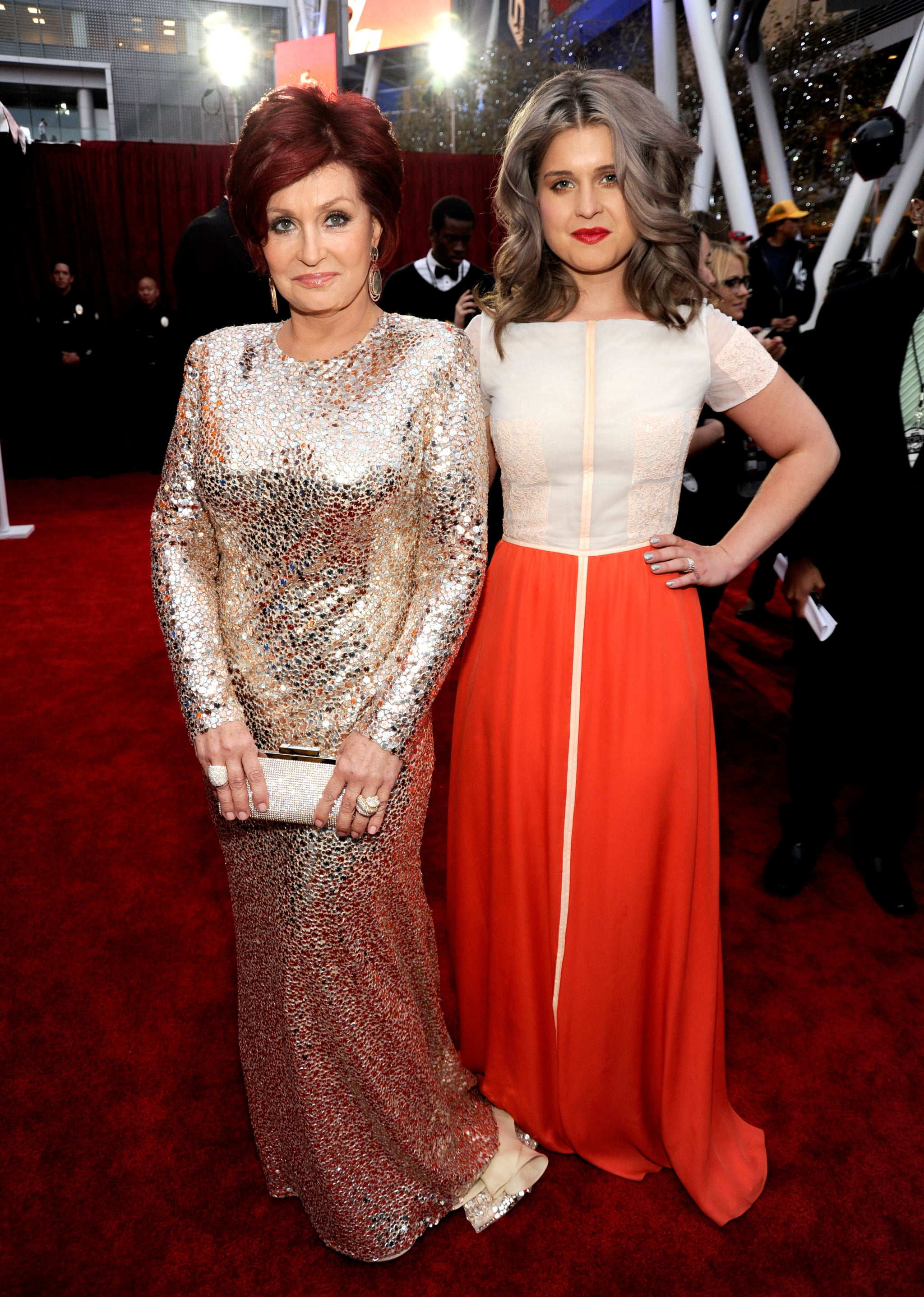 Sharon and Kelly Osbourne at the 2012 People's Choice Awards.
