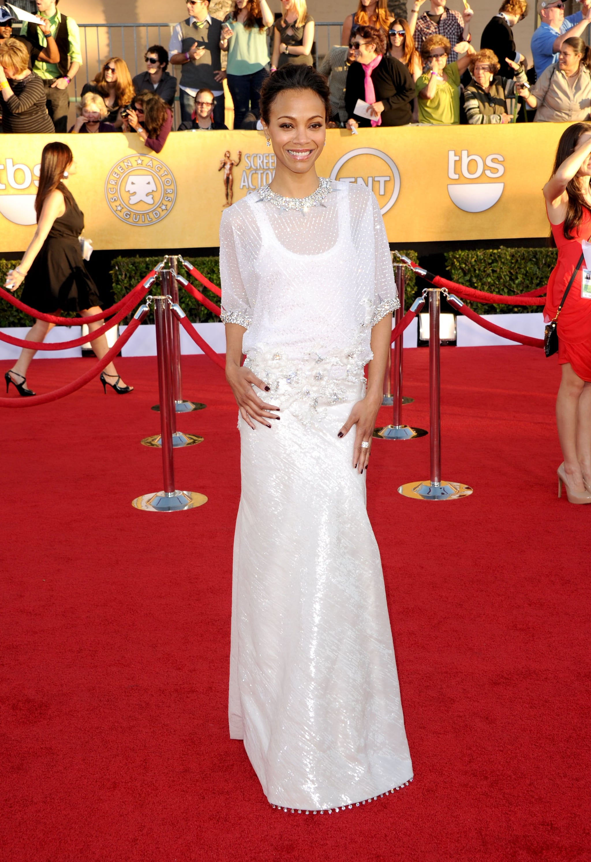 Zoe Saldana at the SAG Awards