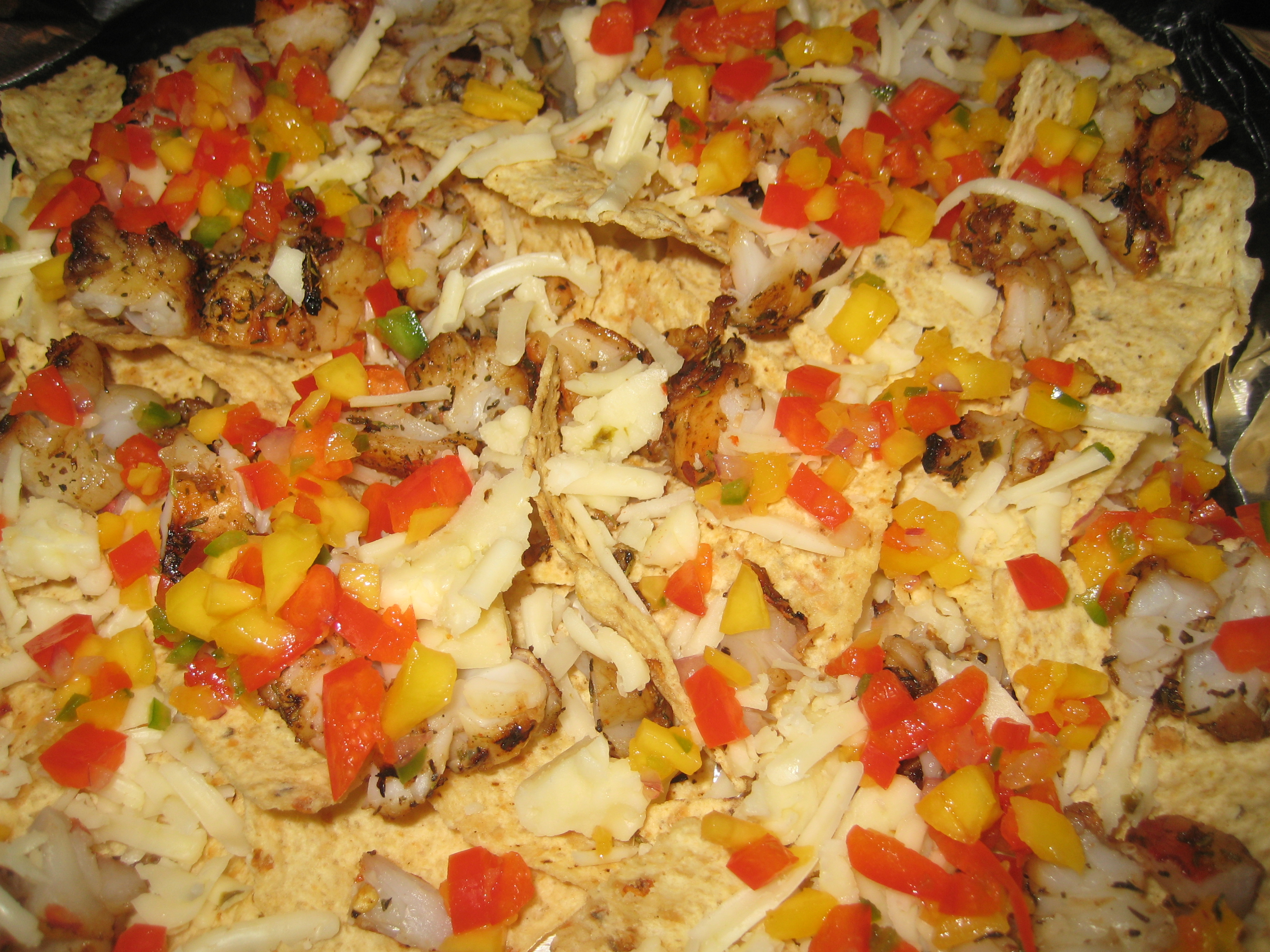 Building the nachos.